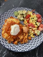 Chicken Taco Rice Bake
