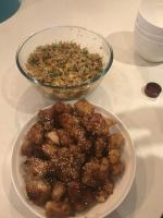 Rice and honey chicken