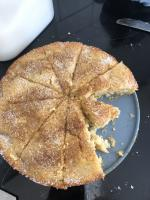Apple tea cake (minus two slices)