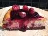 Christmas White Chocolate, Black Cherry & Raspberry Cheesecake