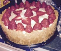 Bailey's & White Chocolate Strawberry Cheesecake