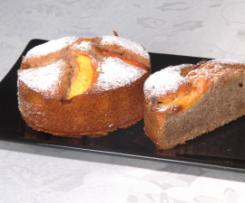 Mini Peach & Pecan Cakes