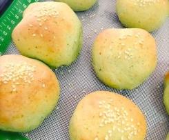 Shrek Bread (Spinach & Parmesan Rolls)