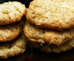 Salted Oatmeal White Chocolate Cookies