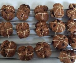 Yeast & Gluten Free Hot Cross Choc Buns