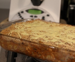 Creamy Chicken Bruschetta Pasta Bake