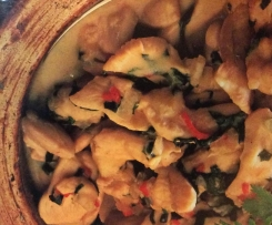 Chilli Chicken with Basil and Coconut Cream