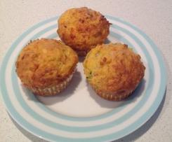 Savoury veg muffin