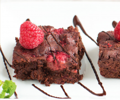 Raspberry Truffle Brownie (Vegan)