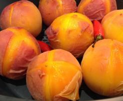 Easy Peel Steamed Peaches