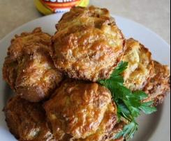three cheese and vegemite muffins