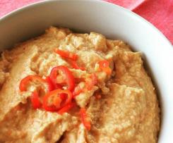 Roasted capsicum & jalapeno hummus (low salt)