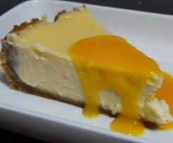 Hunters MKR Baked Vanilla Cheesecake Conversion,With fruit Coulis