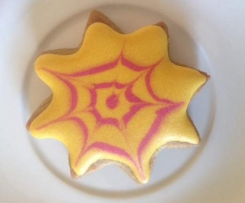 Halloween Spider Web Biscuits