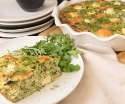Salmon, Spinach & Quinoa Quiche