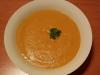Roast sweet potatoe and pumpkin with coconut soup