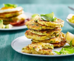 Cheesy sweet corn fritters