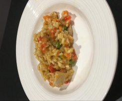 Apricot Chicken (Risotto-Style)