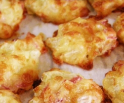 Ham and cheese puffs