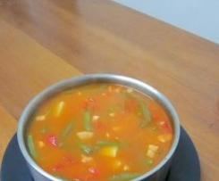Capsicum & Green Bean Soup