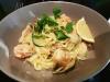 Creamy Garlic Prawn & Zucchini linguine Taela-Made