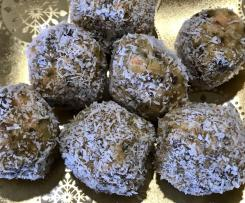 Healthy carrot, chia and walnut balls