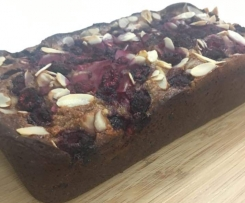 Banana, raspberry and coconut loaf (Gluten, Sugar & Dairy free)