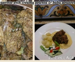 Capretto (Baby Goat) with Creamy Polenta