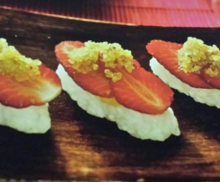 Sweet Sushi with Strawberries & Toasted Quinoa
