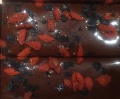 Dark Chocolate Salted Goji Fudge