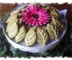 Green Tea Leaf Cookies (egg free)