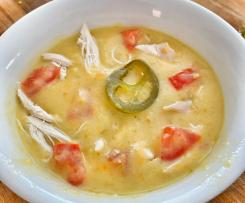 Roasted Jalapeno / Jalapeño  and Chicken Soup