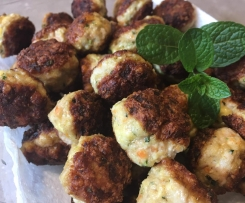 Chicken, haloumi and mint meatballs