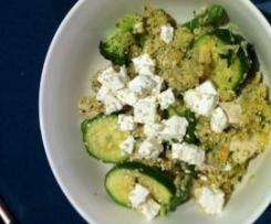 Chicken and Green Vegetable Quinoa Warm Salad