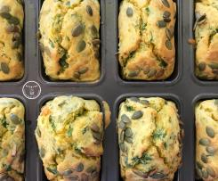 Pumpkin, Feta and Kale Mini Loaves