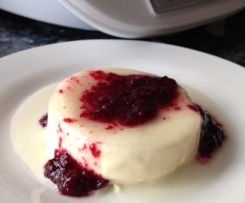 Passionfruit & Blackberry Panna Cotta