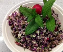 Herb, Cabbage & Mushroom Salad
