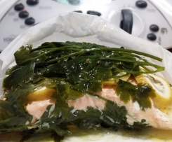 Steamed Lemon & Parsley Salmon