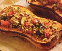 Quinoa stuffed Pumpkin Halves