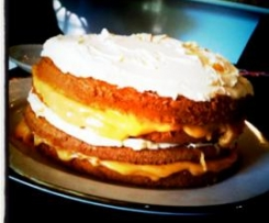Layered Lemon Curd Sponge Cake