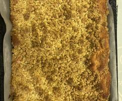 Variation Plum crumble cake