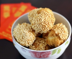 Chinese new year laughing sesame balls