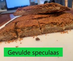 Gevulde speculaas (Dutch spiced biscuit filled with almond paste)
