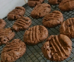 Chocolate, choc chip & coconut cookies