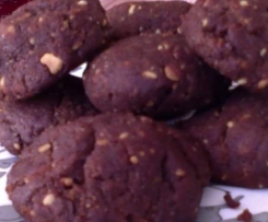 GF Choc/Peanut Brownie Cookies made with Borlotti Beans. (You really wouldn't know, even the kids eat them)