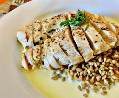 Pan Seared Chicken Breast with Lemon and Taragon Cream