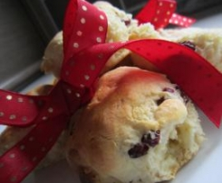 Cranberry, White Chocolate and Buttermilk Scones