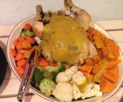 Roast Chook and Veggies