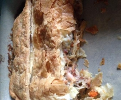 LEFT OVER MEAT AND VEGETABLE PIE