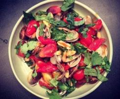 Bloody Caesar and Clam Salad